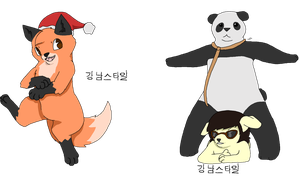 Furry Slyfox and immortal Gangnam style by Chaos55t