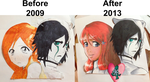 Ulquihime Portraits: Before and After by BlumberBerrry