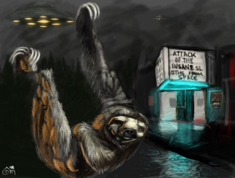 Attack of the Insane Sloths by Mish87