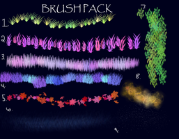 Photoshop Nature Brush Pack by SpookyBjorn