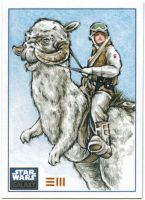 Tauntaun Sketch Card by Erik-Maell