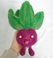 Needle Felted Purple Oddish! by StarlitCutesies