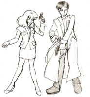 X-Files: Scully and Mulder by kumagorou