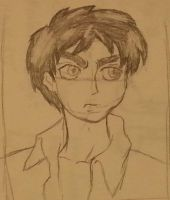 Eren sketch by MyVisionIsDying