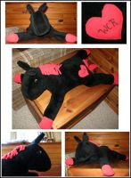 WCR Horse Plushie by NocturnalEquine