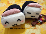 Emote Spam Musubi Plushes by PandaRabbitPlanet