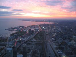 CN Tower Sunset, Toronto by drgirlfriend