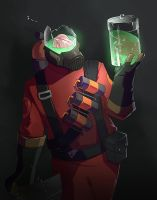 TF2 Pyro hey dude by biggreenpepper