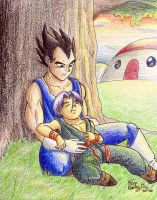 Father and son by Ferntree