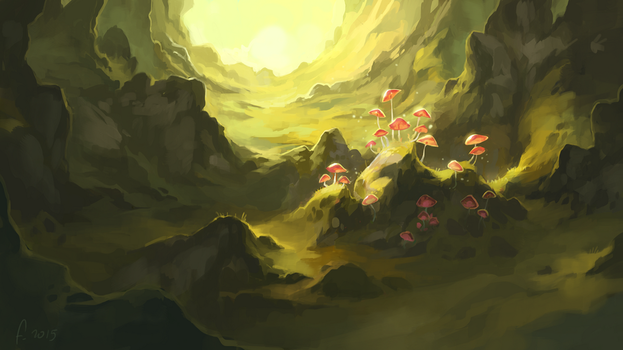 Mysterious Mushrooms by Frayde