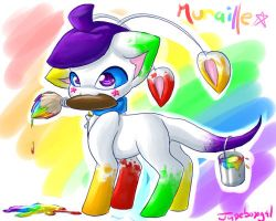 Paint me a rainbow by Jupeboxgal
