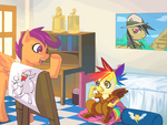 commission: Story Time by bakki