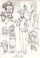 Amy and the Doctor doodles by sn0otchie
