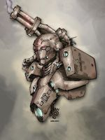 Quicky_War Machine colored by Absalom7