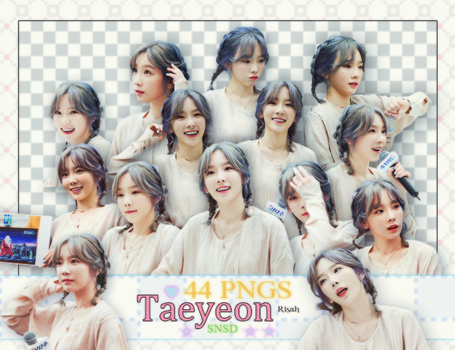 [ PACK RENDER #13 ] 44 PNGS TAEYEON - SNSD by Risahhh