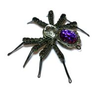 Steampunk Spider Lapel pin Sculpture by CatherinetteRings