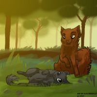 Oakheart and Bluefur by cucumberley