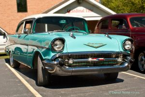 1957 Chevrolet Bel Air Two Door Sedan by StormPix