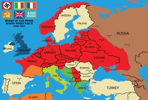 Nazi Power during WW2 Map by rsholtis