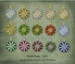 25 Variations of Dresden Badge Ornament - Style 1 by EveyD