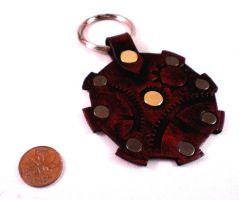 Steampunk Gear Key fob by Skinz-N-Hydez