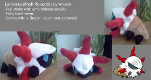 Larvesta Mock Pokedoll by theamazingwrabbit