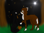 Mossfang and her ShadowClan Crush by Blue-Ink-Splatter