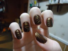 Brown and Bronze Water Marble by pockyXbandit
