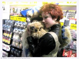 Gaara and Shukaku at HMV by invisible-deity