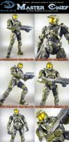12 Inch Damaged Master Chief by KyleRobinsonCustoms