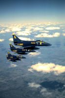Blue Angels echelon by F16CrewChief