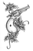 gun tattoo by Rieter