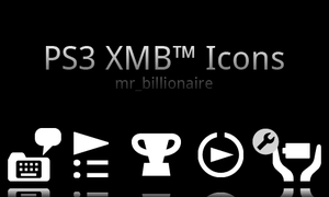 Sony PS3 XMB Icons Pack by mr-billionaire