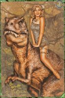 Pinups - Queen of all Dinosaurs by warbirdphotographer