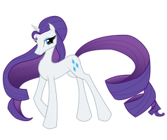 My Little Model: Rarity by Zackira
