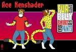Ace Kenshader ref sheet by hooded-wanderer
