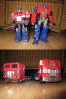 Optimus Prime - Then and Now by KrytenMarkGen-0