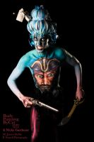 Bodypaint Treasure Island Paintopia 2014 weapons by Bodypaintingbycatdot