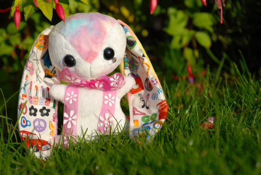 Judy - Retro Sixties Icons Teacup Bunny - For Sale by tiny-tea-party