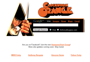 A Clockwork Orange Startpage by AwesomeStart