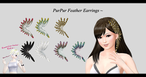 [MMD] PurPur Feather Earrings DL ~ by o-DeadSilverVirus-o