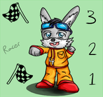 Chibi Request: Racer Rabbit by Fun2BeRandom