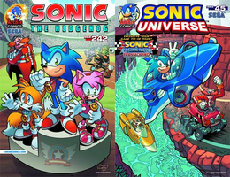 Sonic the Hedgehog #242 and Sonic Universe #45 by RocketSonic