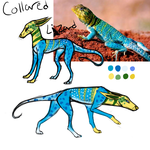 Collared Lizard by TripleThreatKennels