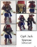 Capt. Jack Sparrow Plushie - No Coat by SoandSewPlushies