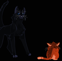 Rusty meets Bluestar by CoalPatchOfDuskClan