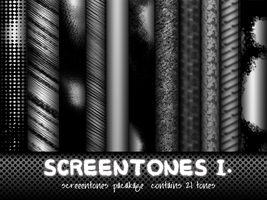 Screentones Pack I. by pinkcamellia