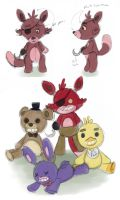 FNAF Plushie Concepts by Robo-Shark