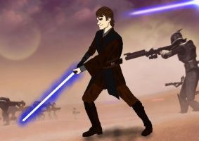 Anakin fight. by JediAnakinSkyguy