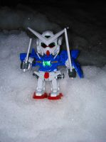 SD Exia don't like snow by MikoKawaii